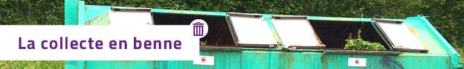 La collecte des déchets verts en benne