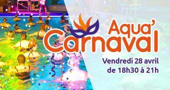 soirée aqua'carnaval à la piscine, à Jeumont