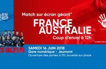 France Australie sur écran géant