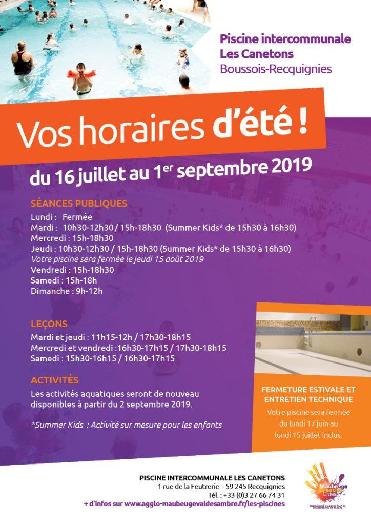horaires-ete-2019-piscine-boussois-recquignies