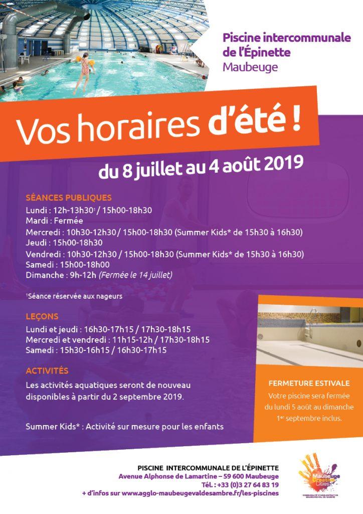 horaires-ete-2019-piscine-maubeuge