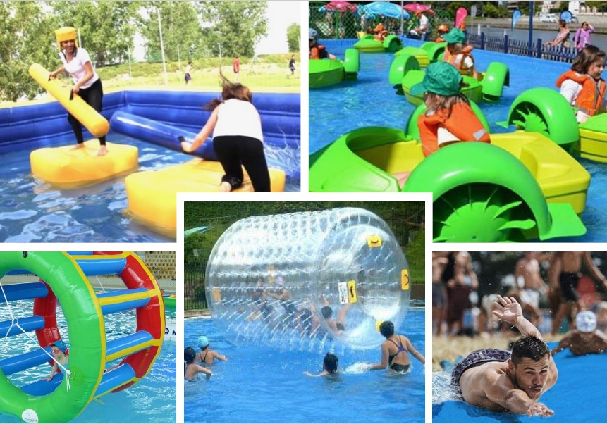 festivités dans les piscines
