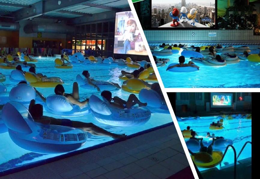festivités dans les piscines aquaciné